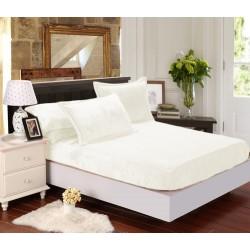 Mikroflanelové prostěradlo Elegance - bílý krém - BedStyle