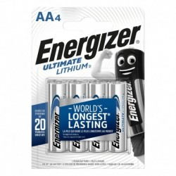 Tužkové baterie Ultimate Lithium - 4x AA - Energizer