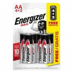 Tužkové baterie MAX - 6x AA - 4+2 zdarma - Energizer