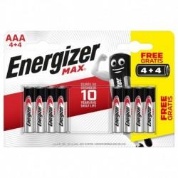 Mikrotužkové baterie MAX - 8x AAA - 4+4 zdarma - Energizer