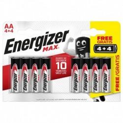 Tužkové baterie MAX - 8x AA - 4+4 zdarma - Energizer