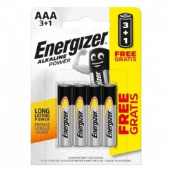 Mikrotužkové baterie Alkaline Power - 4x AAA - 3+1 zdarma - Energizer