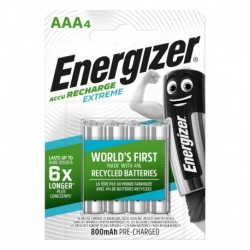 Nabíjecí mikrotužkové baterie EXTREME - 4x AAA - 800 mAh - Energizer