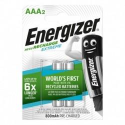 Nabíjecí mikrotužkové baterie EXTREME DUO - 2x AAA - 800 mAh - Energizer