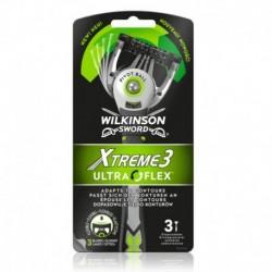 Jednorázový holicí strojek Xtreme 3 UltraFlex - 3 ks - Wilkinson