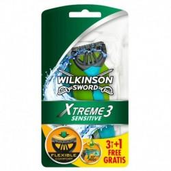 Jednorázový holicí strojek Sword Xtreme 3 Sensitive - 3+1 ks - Wilkinson