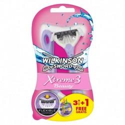 Jednorázový holicí strojek Sword Xtreme 3 Beauty - 3+1 ks - Wilkinson