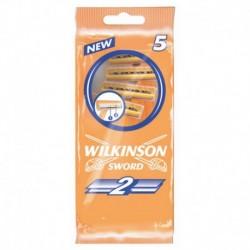 Jednorázový holicí strojek Sword 2 - 5 ks - Wilkinson