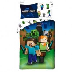 Bavlněné povlečení - Minecraft Attack - 140 x 200 cm - Halantex