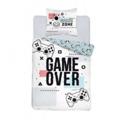 Bavlněné povlečení - Game Over - white - 140 x 200 cm - Detexpol
