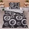 Bavlněné povlečení economy - Magické kruhy - černé - 140 x 200 cm