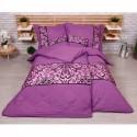 Šestidílné povlečení na klasická 2 lůžka - Ornament - fialový - 140 x 200 cm
