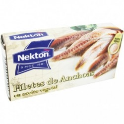 Filety z ančoviček v rostlinném oleji - 50 g - Nekton