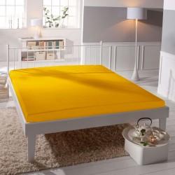 Microtop prostěradlo - žlutooranžové - BedStyle