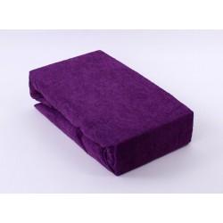 Prémiové froté prostěradlo do postýlky - tmavě fialové - BedStyle