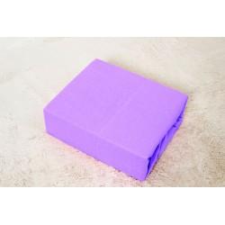 Prémiové jersey prostěradlo do postýlky - fialové - BedStyle