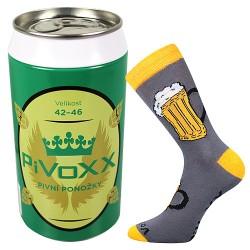 Ponožky PiVoXX + tmavě šedá plechovka - 1 pár - VoXX