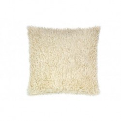 Povlak na polštářek s dlouhým vlasem - béžový - 40 x 40 cm - UD