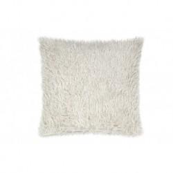 Povlak na polštářek s dlouhým vlasem - krémový - 40 x 40 cm - UD