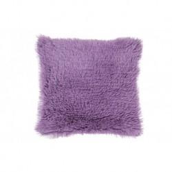 Povlak na polštářek s dlouhým vlasem - fialový - 40 x 40 cm - UD