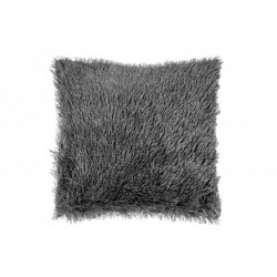 Povlak na polštářek s dlouhým vlasem - tmavě šedý - 40 x 40 cm - UD