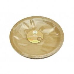 Papírový mělký talíř Nature - 22,5 cm - 10 ks