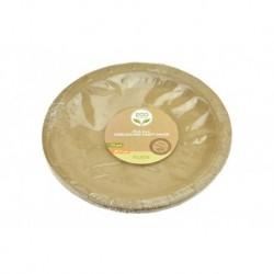Papírový mělký talíř Nature - 17 cm - 10 ks