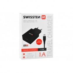 Nabíjecí adaptér s kabelem Lightning - 1 A - Swissten