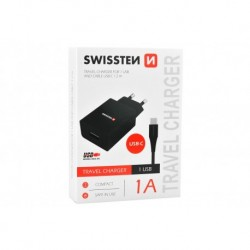 Nabíjecí adaptér s USB-C kabelem - 1 A - Swissten