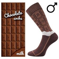 Ponožky - mléčná čokoláda - pánské - 1 pár - Lonka