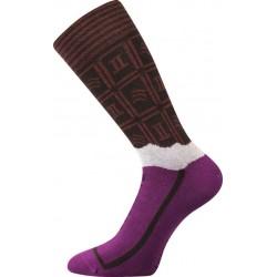 Ponožky - hořká čokoláda - dámské - 1 pár - Lonka