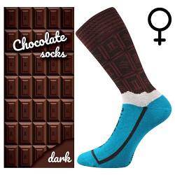 Ponožky - mléčná čokoláda - dámské - 1 pár - Lonka
