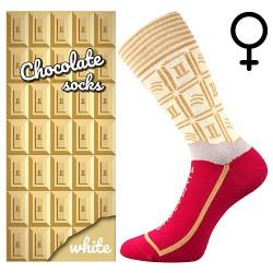 Ponožky - bílá čokoláda - dámské - 1 pár - Lonka
