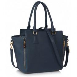 Elegantní dámská kabelka LS00314A_NAVY - námořnická modř - LS Fashion