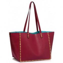 Elegantní dámská kabelka LS00477 - vínová - LS Fashion