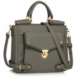 Dámská kabelka LS00237A_GREY - šedá - LS Fashion