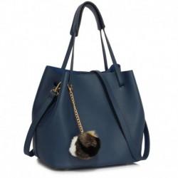 Stylová dámská kabelka AG00190_NAVY - tmavě modrá - Anna Grace