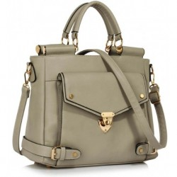 Stylová kabelka LS00237B_GREY - šedá - LS Fashion
