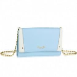 Stylová kabelka AG00640_BLUE - modro-bílá - Anna Grace