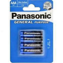 Baterie General Purpose R03BE/4BP - 1,5 V - 4x AAA baterie - balení blistr - Panasonic
