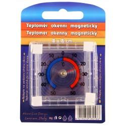 Okenní magnetický teploměr - čtvercový - 8 x 8 cm