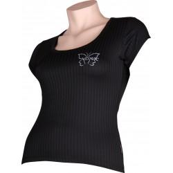 Dámské tričko SELECT 02 - krátký rukáv - černé - VoXX