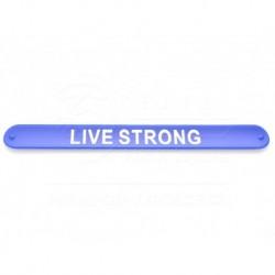Náramek s motivačním nápisem Live Strong - modrý