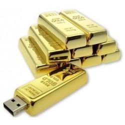 USB Flash disk - 16 GB - zlatá cihlička