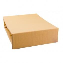 Jersey prostěradlo - pískové - 140 x 200 cm - Aaryans
