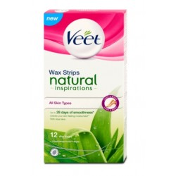 Voskové pásky Natural Inspirations s Aloe Vera - 12 ks - Veet