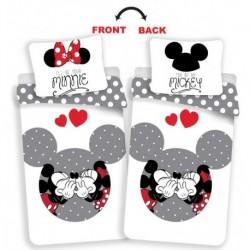 Bavlněné povlečení - Minnie a Mickey  zamilovaní - 140 x 200 cm - Jerry Fabrics