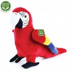 Plyšový papoušek Ara Arakanga - červený - 24 cm - Rappa
