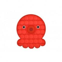 Antistresová hračka Fidget Pop It - Chobotnička - červená