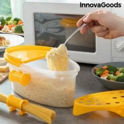 Vařič těstovin do mikrovlnné trouby Pastrainest - s příslušenstvím a recepty - 4 v 1 - InnovaGoods